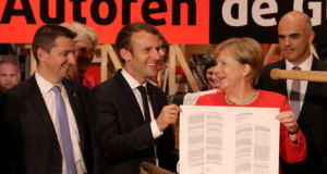 'Frankfurt book fair' is opend by The French President Emmanual Maron and German Chancellor Angela Merkel joined together