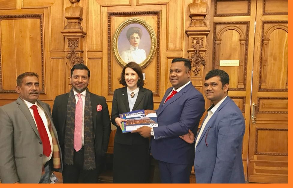 St Petersburg Chamber's Vice President Mrs. Lebedeva reciprocated with publication documents and journals from Engr. Mehedi Hasan Chairman of Omicon, the leading publishing house in Bangladesh And Mr. Habib Ullah Dawn, CIS-BCCI President and Director of FBCCI also present there